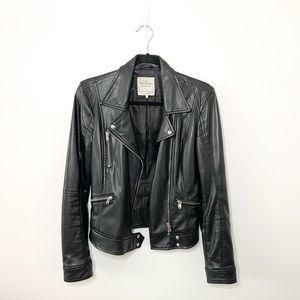 ✨HP✨ Zara TRF Black Faux Leather Jacket Size Small